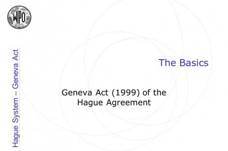 Geneva Act of Hague Agreement Concerning the International Registration of Industrial Designs, 1999