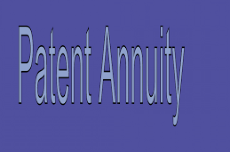 Annuity payment of Patent